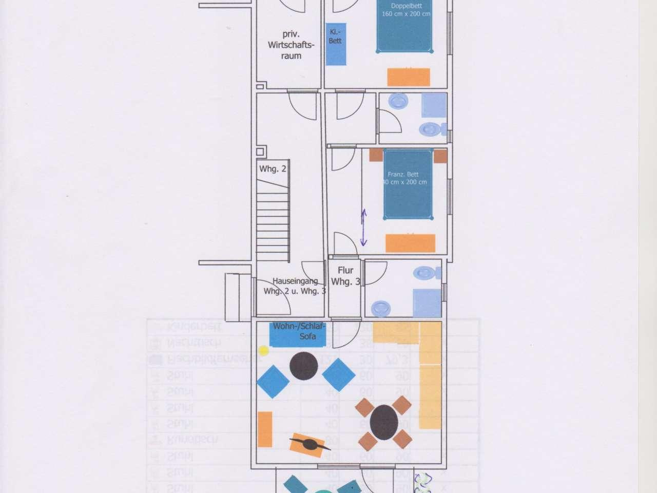 Ferienhaus Haus Gallileo - Wohnung Leuchtfeuer , EG, Zimmer