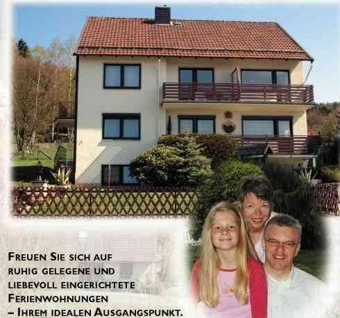 Ferienwohnung Gästehaus Fahlbusch Whg. 1 Bad Sachsa - Bergstr. 1 37441 Bad Sachsa - Anbieter Sabine Merkel